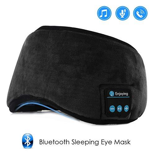 Jinxuny Bluetooth Sleeping Eye Mask Cuffie Sleeping Travel Musica Copertura per Occhi Lavabile Senza Fili Maschera per Il Sonno Ultra Confortevole Maschera per Gli Occhi con Auricolare per Uomo Donna