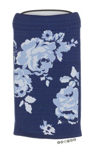 Trendz TZSKBLFL Universal Socke für Apple iPhone/iPod und MP3 blau mit Blumen