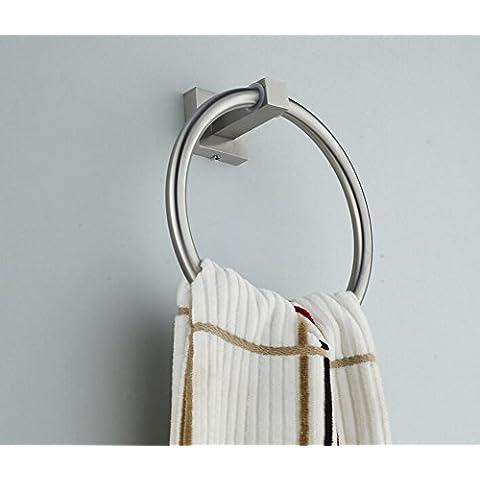 anillo de toalla del cuarto de baño de acero inoxidable/ toalla de baño colgante lazo/Estilo europeo colgante estante toallero-B