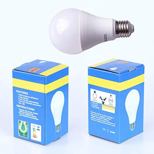 Bombilla LED de luz Diurna, luz de Lujo, iluminación de fotografía, CRI Ra></noscript>88, 5400 K, Bombilla E27