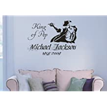 Vinilo decorativo pegatina pared, cristal, puerta (Varios colores a elegir)- michael jackson
