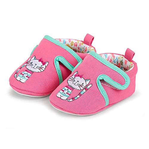 Sterntaler Baby-Schuh mit rutschfesten Sohlen und Klettverschluss für Mädchen, Alter: 12-18 Monate, Größe: 20, Farbe: Pink (Bonbonrosa), Art.-Nr.: 2301861 -