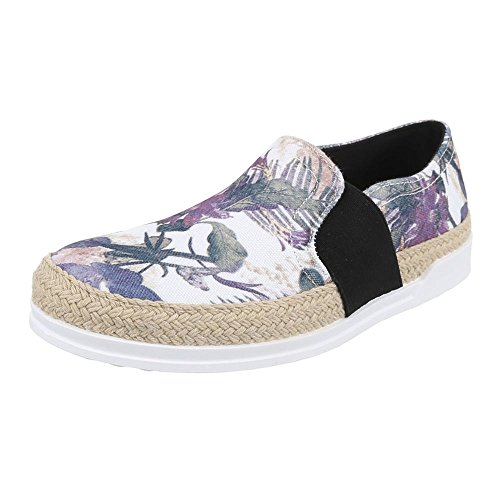 Ital-Design - Scarpe basse Donna Multicolore (Nero/Multicolore)