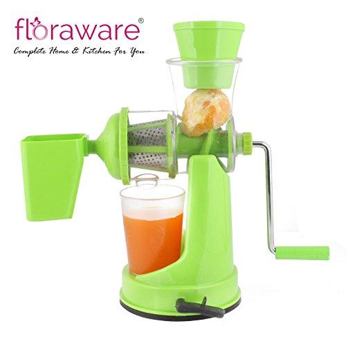 Floraware Plastic Hand Juicer, Green (ABS-Green)