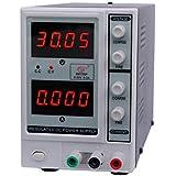KKmoon 0-30V 0-3A Alimentation DC, 4 Chiffres DC Power Supply Variable Réglable Numérique, Tension Réglable avec LCD AffichageEM1703F Plug UE