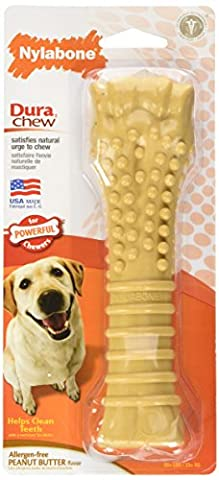 Nylabone Dura Chew Large Dog Chew for Extreme Chewers, Peanut Butter
