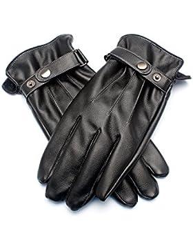 Demon&Hunter Serie básica de los hombres ScreenTouch alineados guantes de cuero caliente