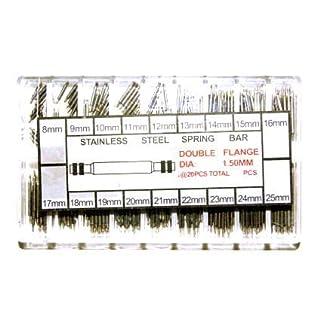 230 Federstege Federstifte Uhrenstifte Stahl Uhrenstifte Springer Sortiment in Klarsichtbox 8 - 25 mm NEU