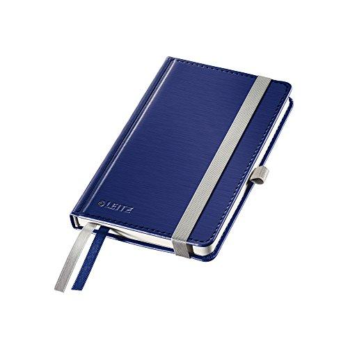 Leitz Taccuino A6 con copertina rigida, 80 fogli, A quadretti, 2 segnapagina, Carta avorio 100 gr/mq, Blu Titanio, Style, 44910069