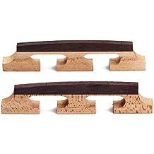 Healifty 2 STÜCKE 6 Saiten Banjo Bridge Palisander Dreibeinige Saiteninstrumente Teile für Ukulele Gitarre Banjo
