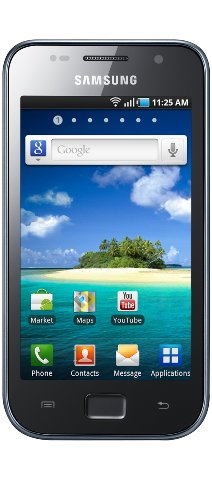 Samsung Galaxy S i9003 Smartphone (10,1 cm (4 Zoll) Super Clear LCD Display, Touchscreen, 5 Megapixel Kamera, Android Betriebssystem) schwarz