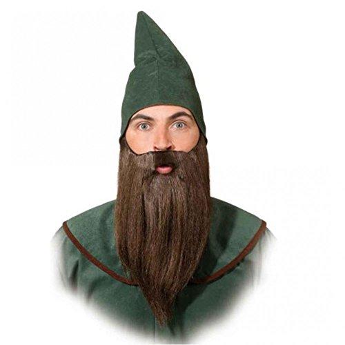 Zwergen Bart glatt, braun Kostüm Zubehör Fasching Märchen (Die Zwerge Sieben Kostüme)
