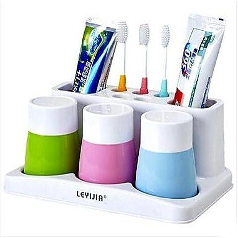 innovadora de rack cepillo de dientes taza diente g¨¢rgaras parejas Yagang traje lavado veh¨ªculo crossover diente una familia de tres