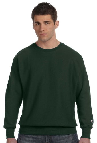 Champion Reverse Weave Crew Neck Shirt Dark Green