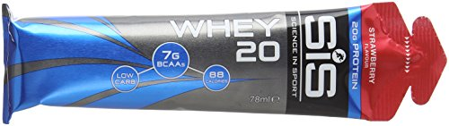 Science in Sport Whey20 On The Go Whey Protein, 20 g Protein, 78 ml – Strawberry, Pack of 12