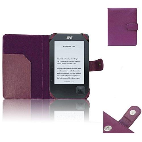 Xtra-Funky Esclusivo: Custodia Pelle Tipo Portafoglio per dispositivi Amazon & whsmith' S Kobo (Kobo Wi-Fi Wireless, Viola)
