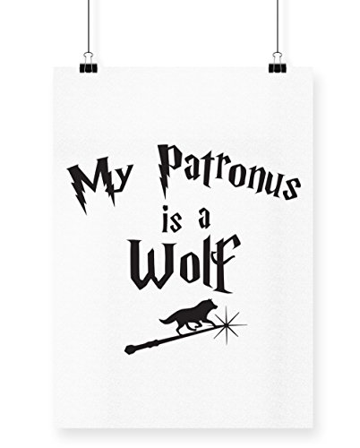 tronus ist ein Wolf Bedruckte Poster Wall Art Wand Design, weiß, A4 (Halloween Forest Park)