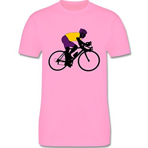 Radsport - Rennrad Triathlon - Herren Premium T-Shirt Rosa