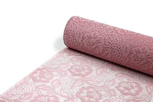 SIZOLACE ® ROSE ( Spitzen -Optik, Tischläufer, Tischband ) 30cm/5m. BLASSES ROSA 3010