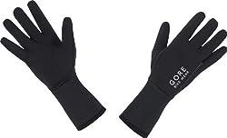 Gore Running Wear Innen rutschfest angeraute Laufhandschuhe mit Reflektorlogo und eingenähtem Reflektorstreifen; 88% Nylon, 12% Elastan.