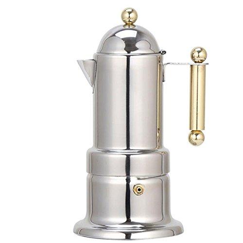 Kaffeemaschine Verstellbare Kurbel All-in-One Kaffeemaschine Maschine mit Wiederverwendbaren Filter...