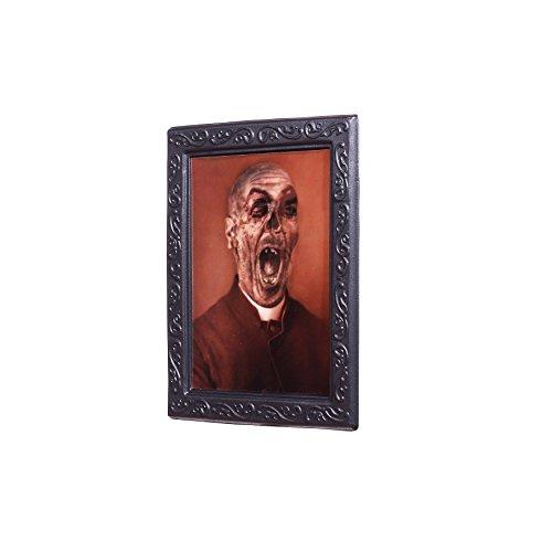 Zoelibat 97176241.008 Effektbild, Portrait Sicko Vexierbilder, Deko Halloween, circa 22 x 28 cm