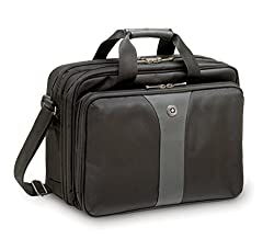 "Wenger 600648 Legacy 16"" Double-gusset Laptop Case, Blackgrey, 15 Litres"