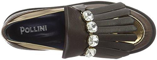 Pollini Damen Shoes Bootsschuhe Braun (Brown + bronze 30A)
