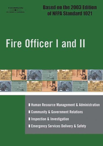Fire Officer I and II por Delmar Thomson Learning