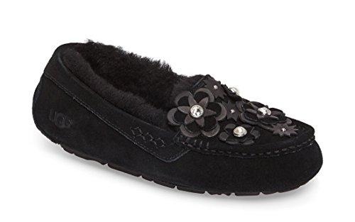 UGG Women's Ansley Petal Slipper in Holiday Box (7 M, Black) (Ansley Ugg Hausschuhe)