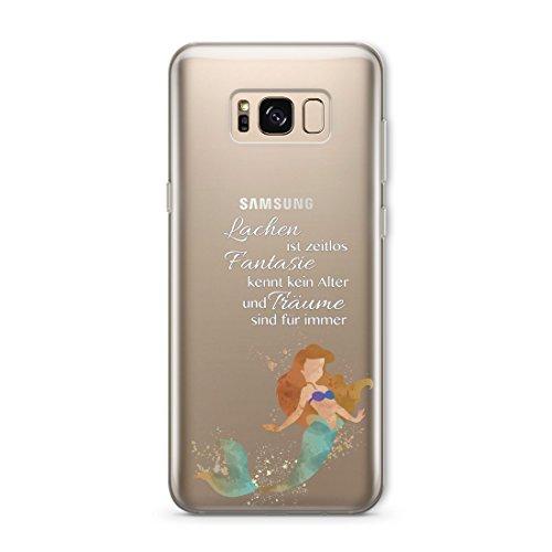 SmartGiftShop Film Charakter Disney Zitat KLARES Flexibles TPU Schutzhülle Fall Samsung Samsung Galaxy S8 / Arielle die Meerjungfrau