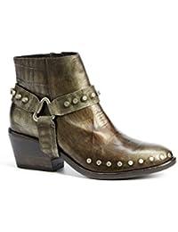 Mujer Informal ANTIDESLIZAMIENTO SIN CIERRES Elástico Tacón EN BLOQUE MEDIO Botines Chelsea Zapatos Botines Talla - Marron, 41