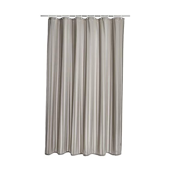 Amazon Brand - Solimo Aurio Polyester Shower Curtain, 72 inch x 79 inch, Grey