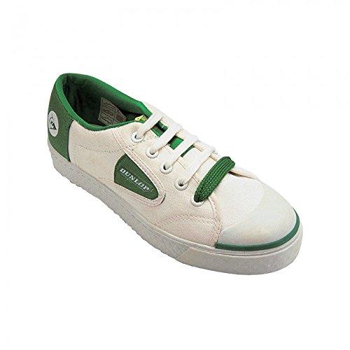 Dunlop - Zaptillas Casuales con Cordones Modelo Green Flash Unisex (42 EU/Blanco)