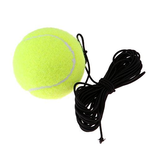 MagiDeal Tennis-Zubehör Tennisball mit Schnur Tennistrainer Outdoor Spaß Strand Freizeit Dog Training -