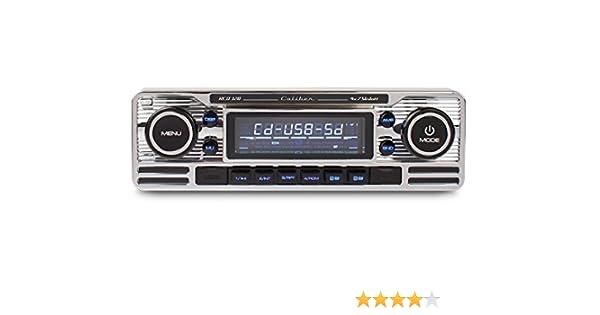CALIBER RMD120BT 1-DIN Retro Bluetooth//USB//SD Radio für Oldtimer PKW Silber