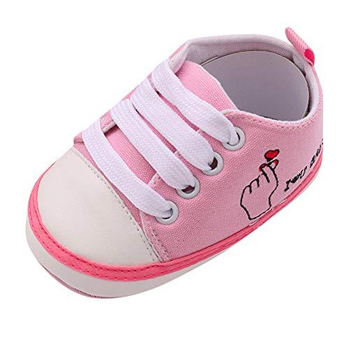 Kobay Kinder Schuhe Kleinkind-Schuhe Anti-Rutsch-weiche Feste Segeltuch-Schuhe (11/0-6Monate, ()