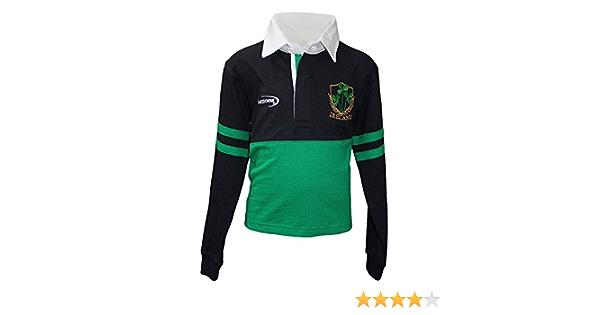 Lansdowne Irlanda Rugby Maglietta T-Shirt Performance da Uomo Verde Smeraldo con Trifoglio Design