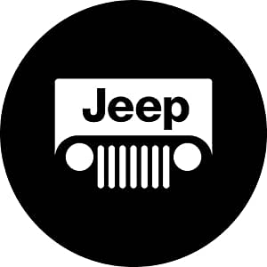 "JEM&JULES Type-D : 16"" Black Spare Wheel Tire Cover Soft Cover fits Jeep Wheel Size R16(30""-31"") (Type-D)"