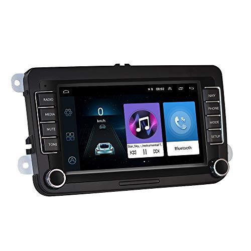 Auto 7 Zoll Touchscreen HD-Autoradio Bluetooth Freisprecheinrichtung Sprachführung Fahrspur assistent Eingebautes WiFi Lernen mit dem Lenkrad Dash cam-Funktion Radarwarner ()