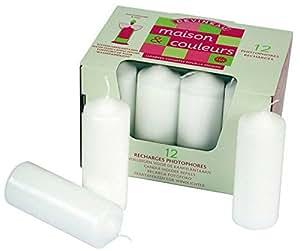 Dtm 139500 Bougies blanches à décorer Format 110 x 40 mm Lot de 12