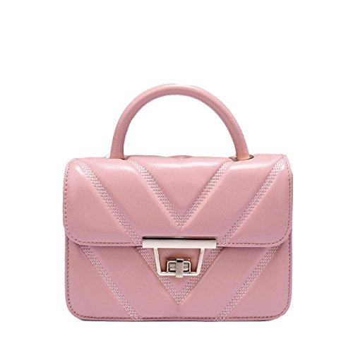 Tracolla Bag Borsa In Modo Pacchetto Diagonale Borsa Lingge Piccolo Pacchetto Quadrato Pink