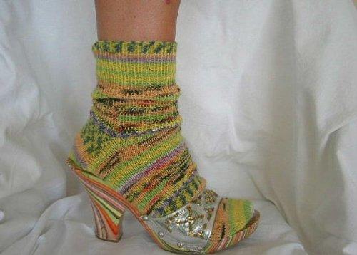 Socken stricken mit Rundstricknadeln - leicht gemacht