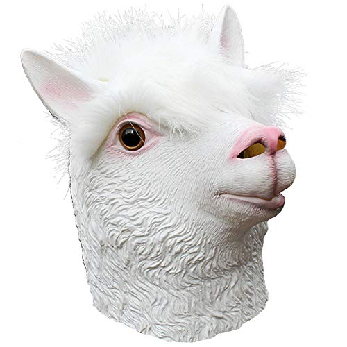 Beautyrain Halloween Horror Silikon DIY Maskerade Requisiten Tier Alpaka Maske spielt Gesichtsmasken (Tier Maskerade Masken)
