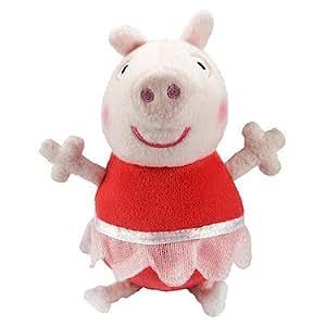 Peppa Pig - Ballerine - Peluche Parlante 18cm - Langue Anglaise (Import Royaume-Uni)