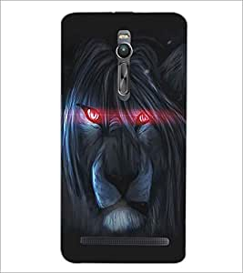 ASUS ZENFONE 2 ANGRY LION Designer Back Cover Case By PRINTSWAG