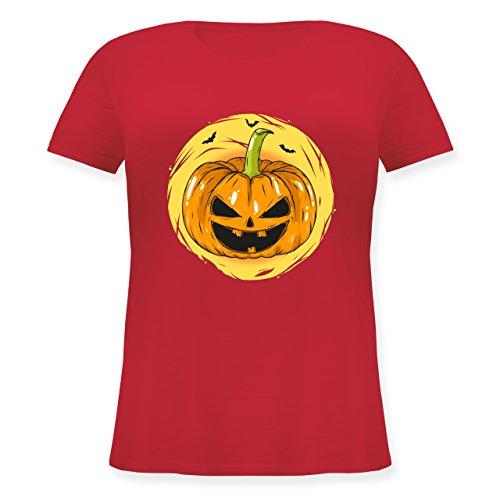 Halloween - Halloween Kürbis Gesicht - S (44) - Rot - JHK601 - Lockeres Damen-Shirt in großen Größen mit Rundhalsausschnitt (Halloween-kostüm Lustige Für Schwangere Ideen)