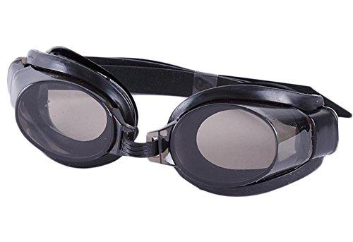 3f24923378e6f Demarkt Schwimmbrille mit sehstärke für Kinder Herren Damen Wasserdicht  beschlagfrei PVC (Schwarz)