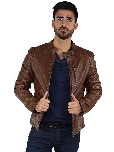 Oakwood - Blouson Oakwood Agency en cuir ref_cco39660-tabac Multicolore
