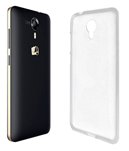 SDO Dotted Finish Ultra Thin Silicone Soft Case Back Cover for Micromax Canvas Xpress 2 E313 - Transparent